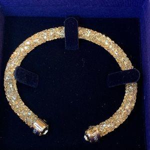 Swarovski open cuff crystal dust gold